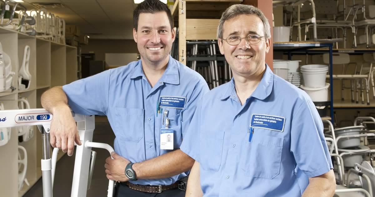 Pret equipement : des employés dévoués