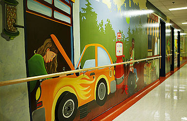 Murale interactive pour les enfants
